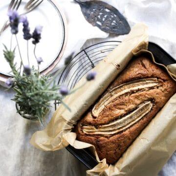 Spelt Banana Bread, healthy baking, family food