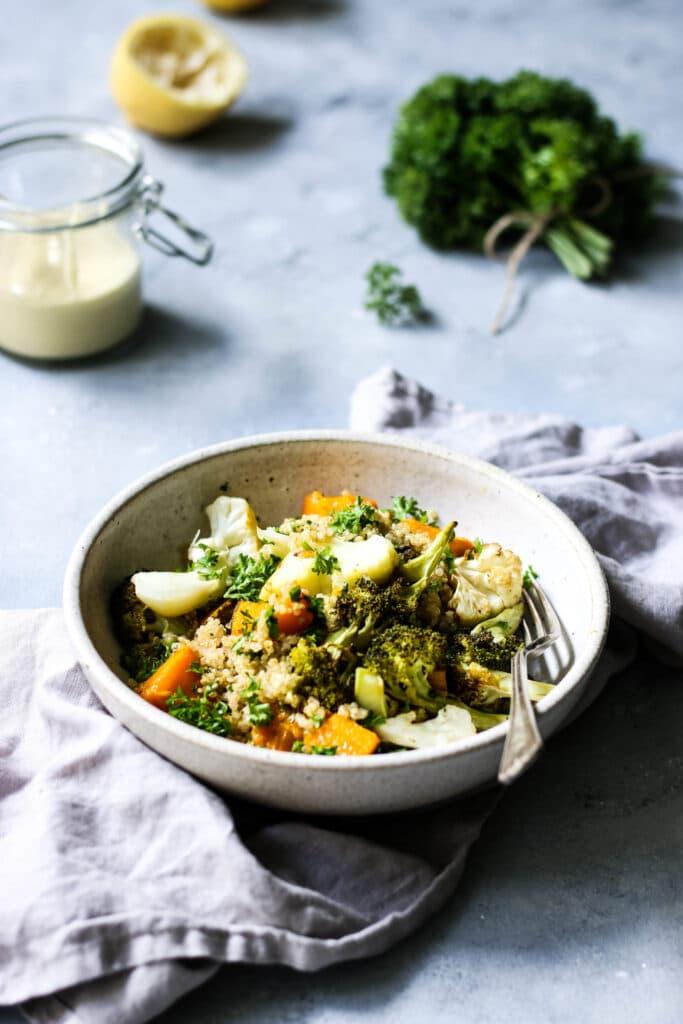 warm autumn salad recipe, gluten free recipe, dairy free side dish, gluten free side dish, dairy free recipe