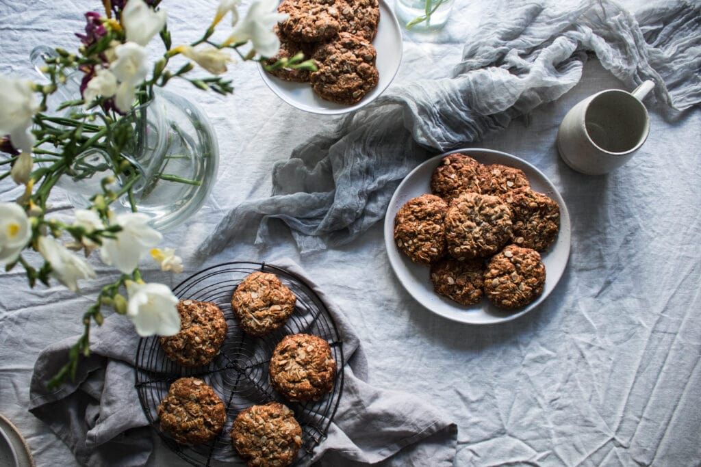 gluten free biscuit recipe, gluten free cookie recipe, dairy free Anzac biscuit recipe, Anzac biscuits, dairy free recipe