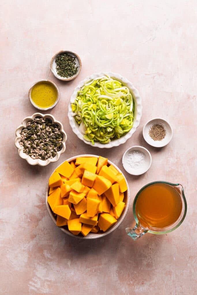 ingredients for vegan pumpkin soup