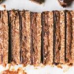 slices of vegan caramel choc slice