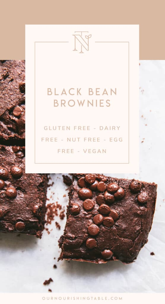 black bean brownie pinterest graphic