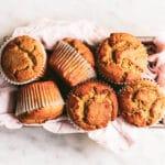 healthy lunchbox friendly orange gluten free muffins