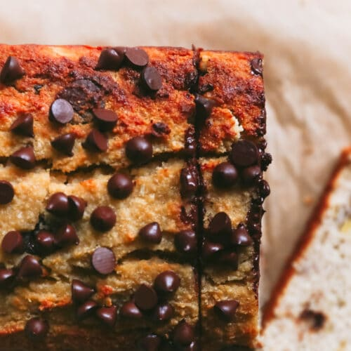 paleo banana bread loaf, sliced