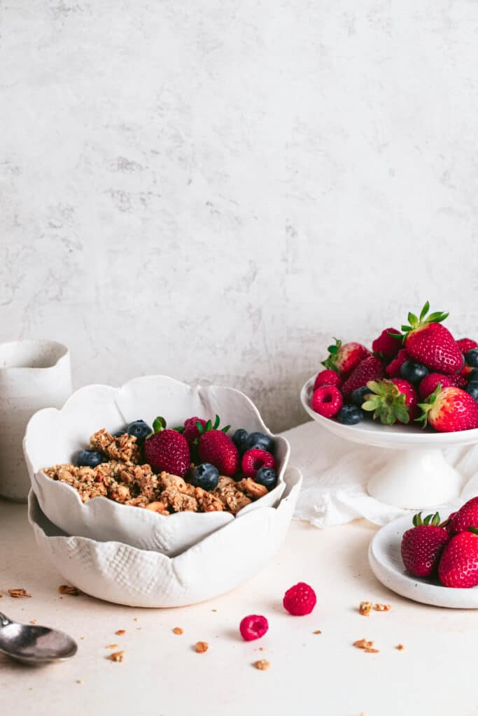 nutty toasted granola and