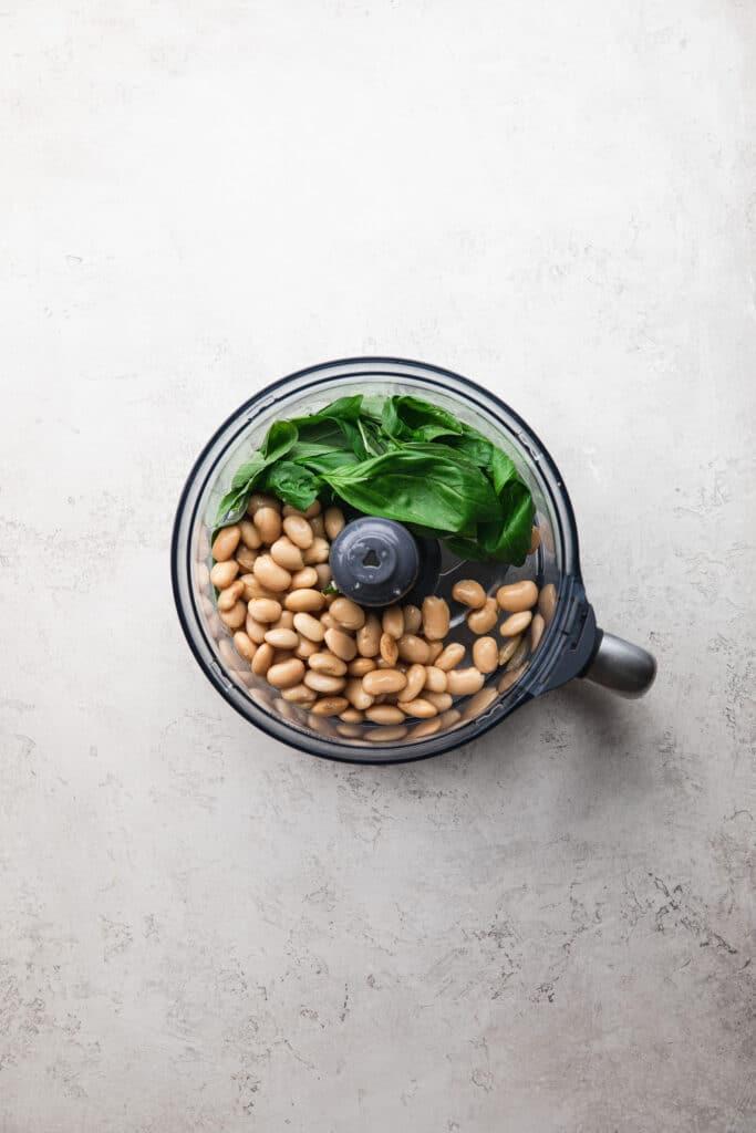 how to make creamy basil white bean dip