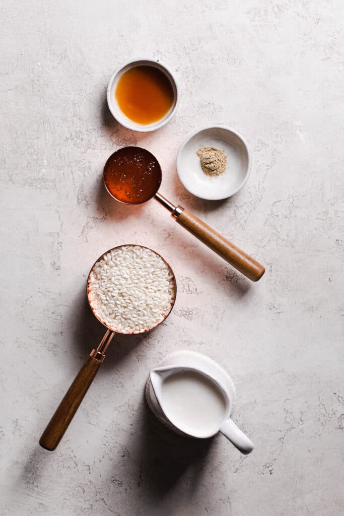 ingredients for dairy free rice pudding