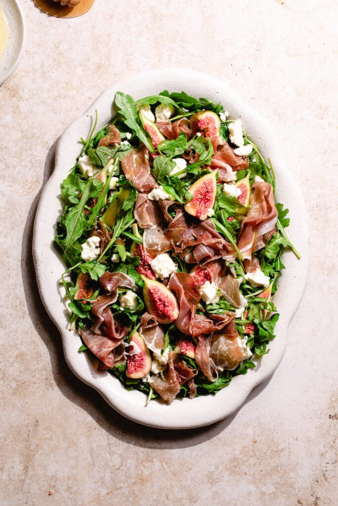 prosciutto, fig and goats cheese salad
