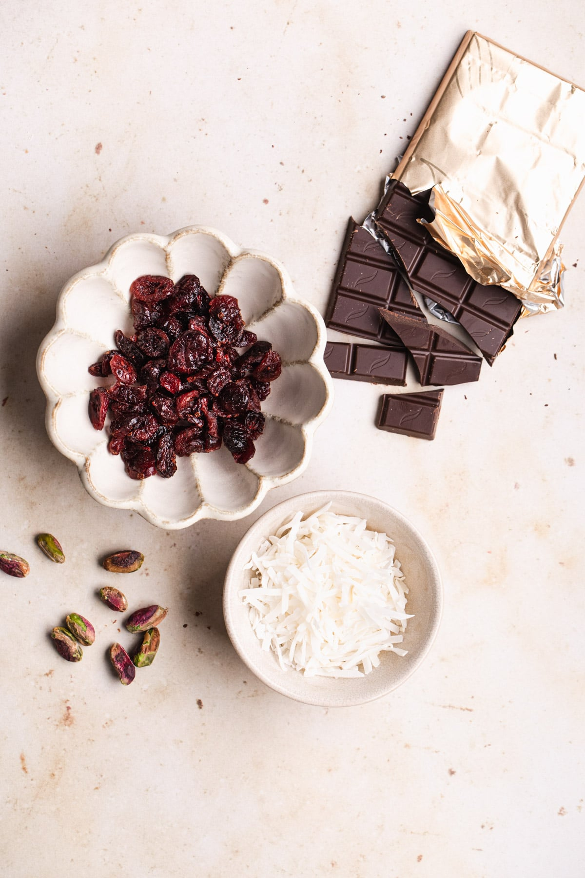 ingredients for dark chocolate rocky road