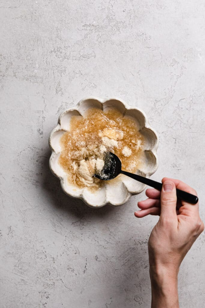 stirring gelatin through water