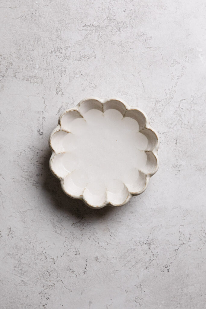 water in small dish