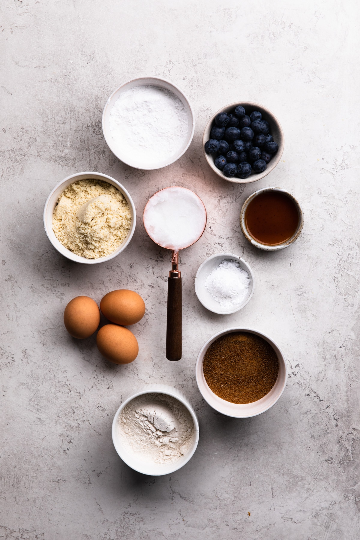 ingredients for baked blueberry donuts