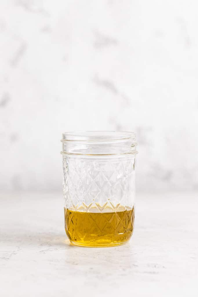 extra virgin olive oil in small jar
