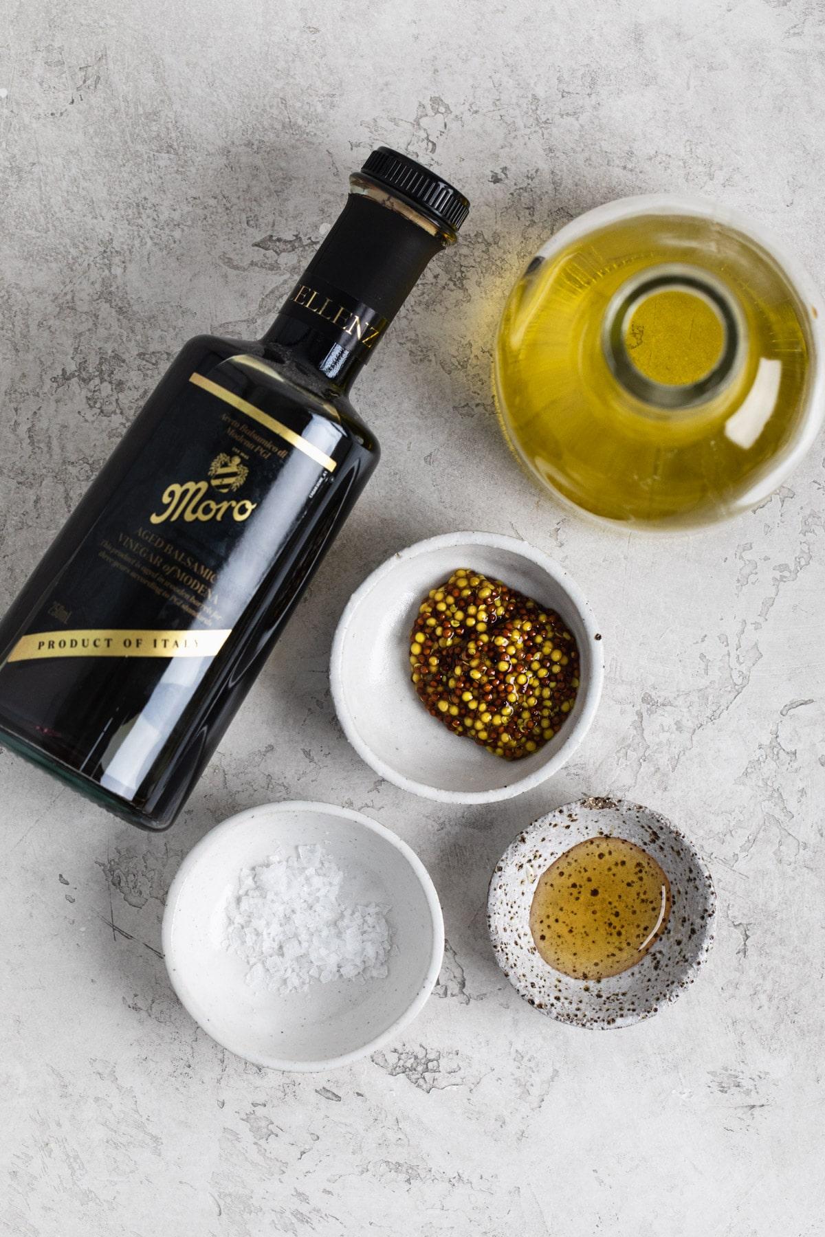 ingredients for honey balsamic dressing