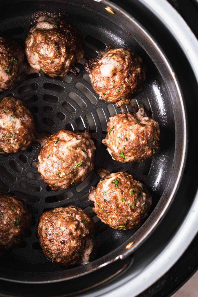 meatballs cooked in air fryer