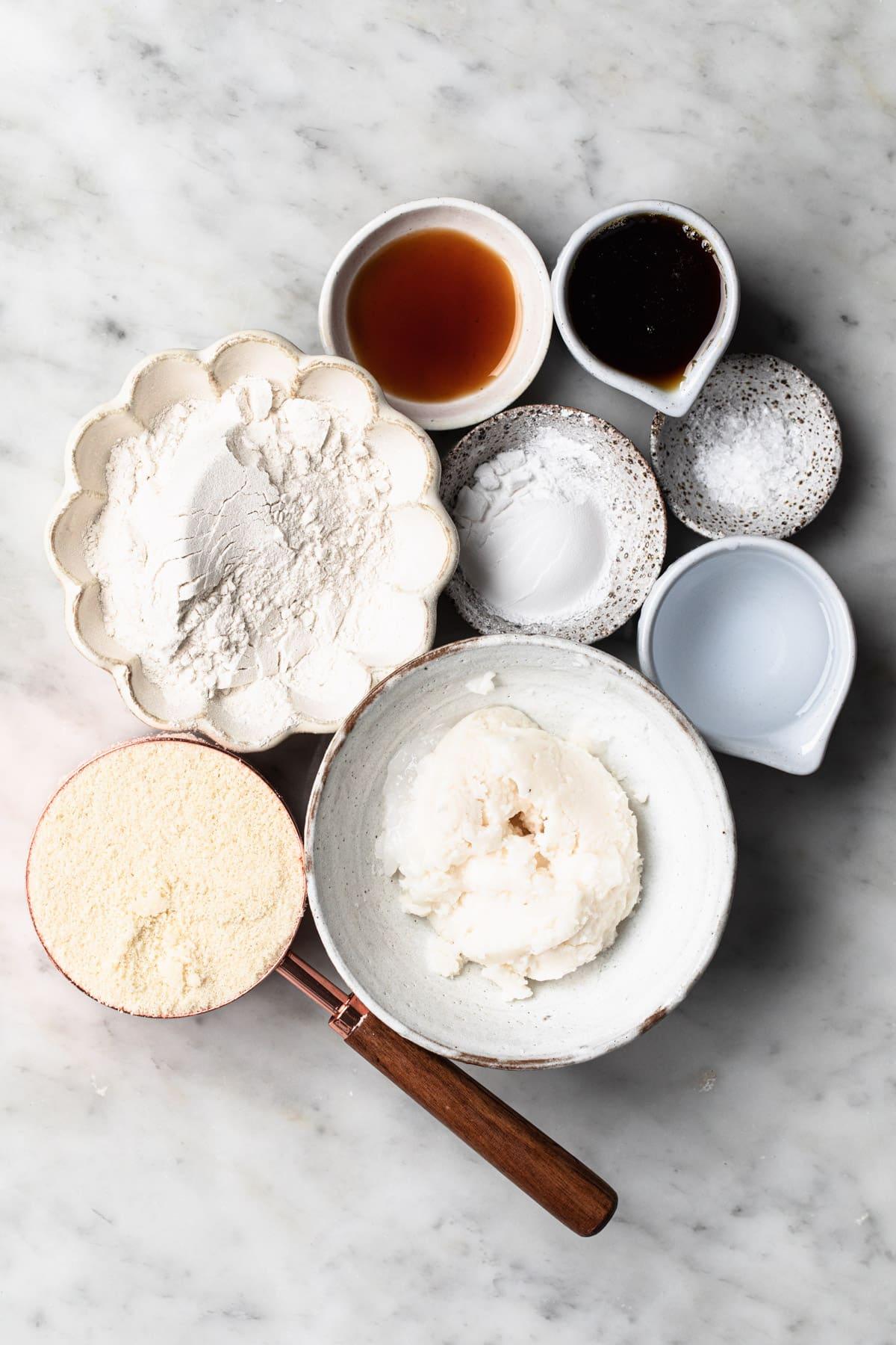 gluten free ingredients for vegan shortcrust pastry